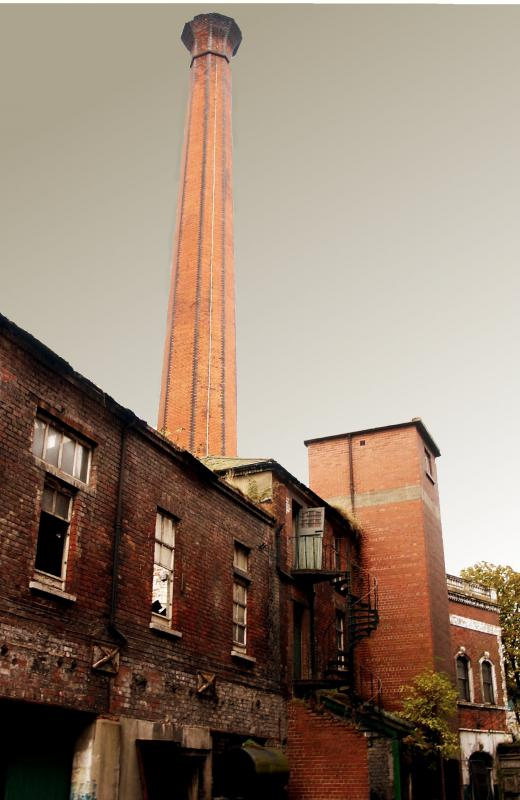 Smokestacks became common during the Industrial Revolution.