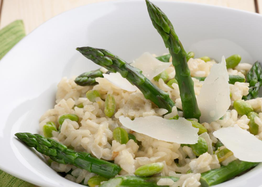 Fresh vegetables in risotto add flavor and nutrients.