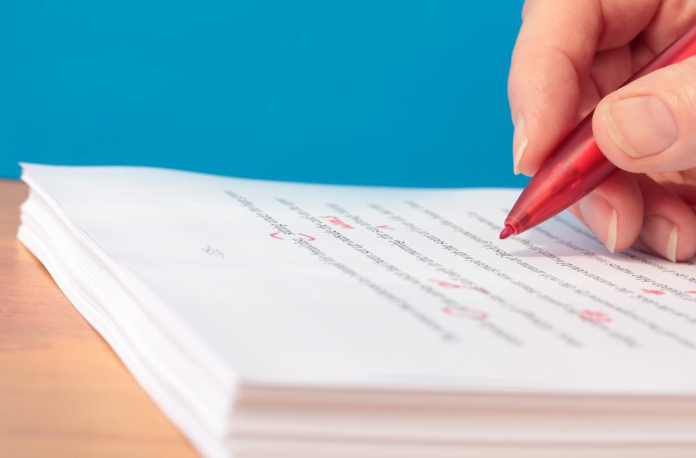 Experts thoroughly review manuscripts in order to catch errors which the author may have missed.