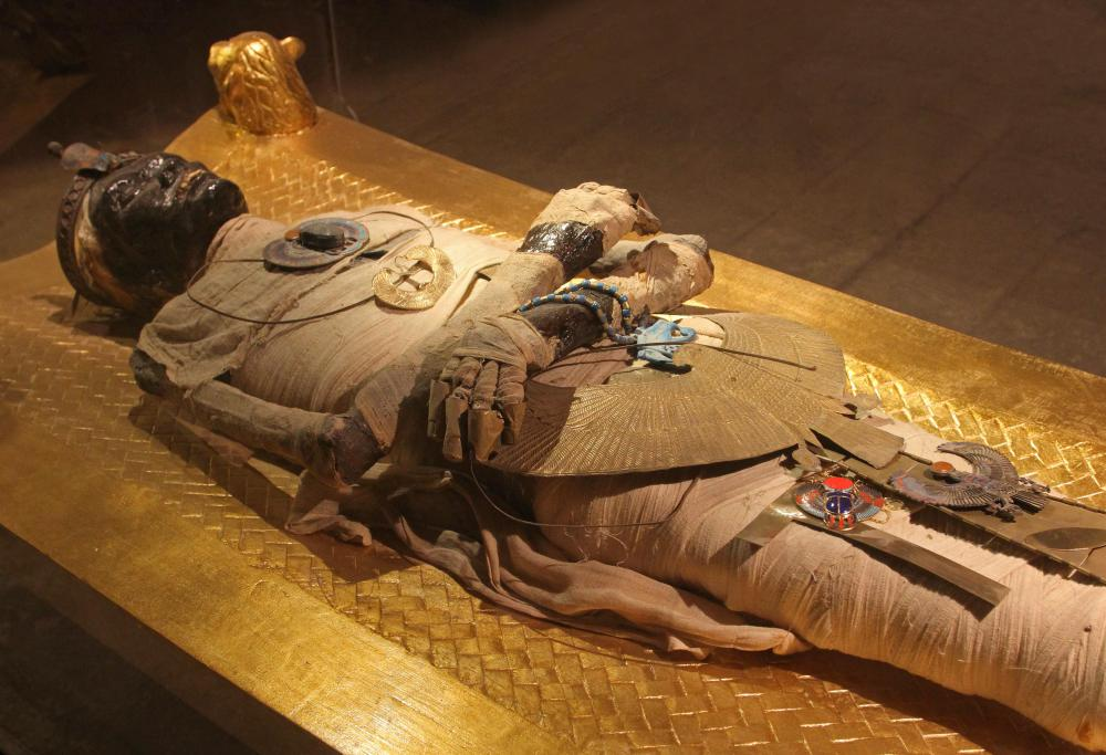 Some ancient cultures used resin to seal mummies.