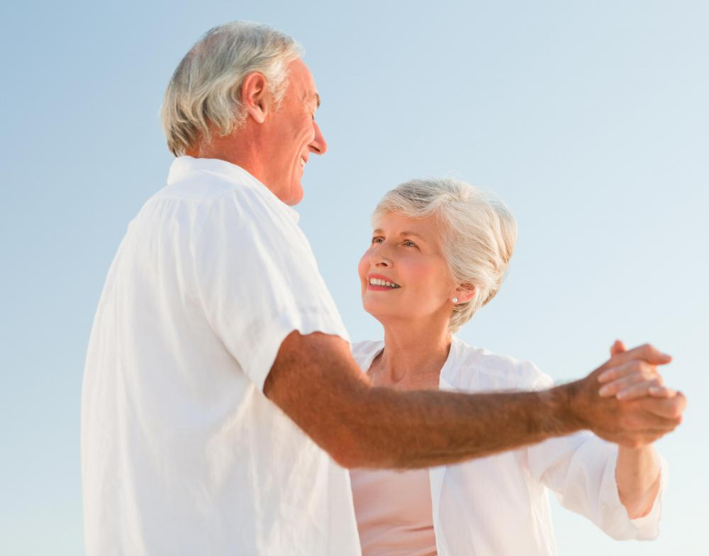Dancing helps keep elderly people more active and social.