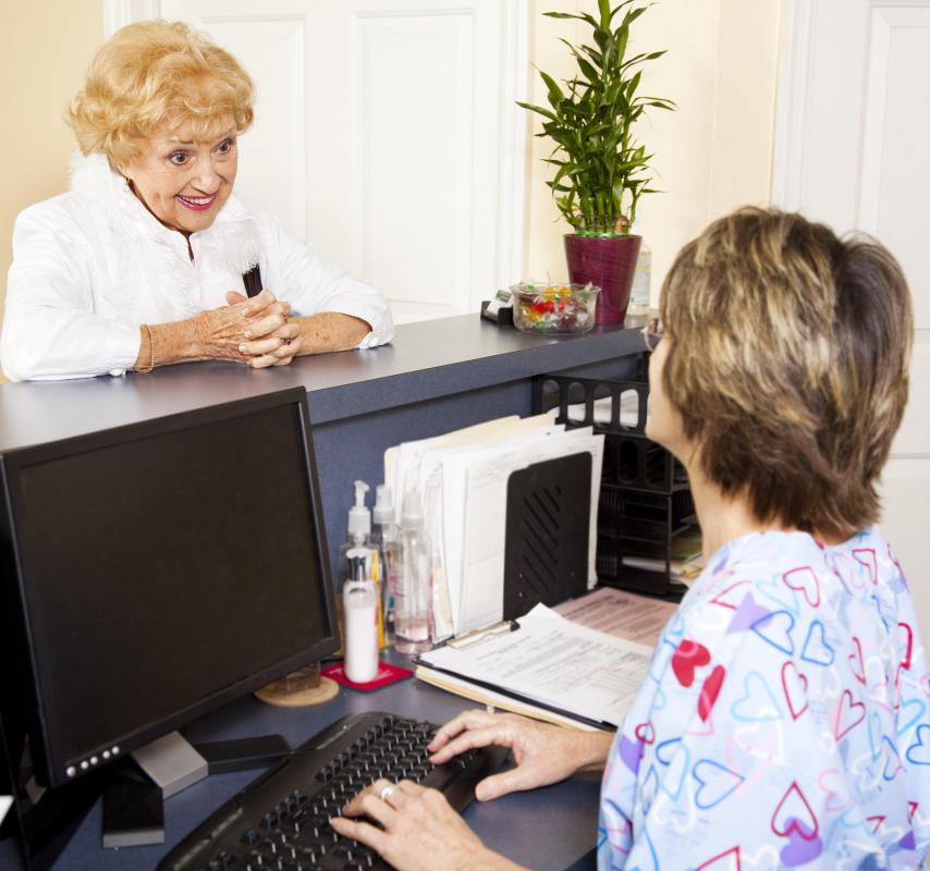 A front office receptionist must be warm, friendly and outgoing.