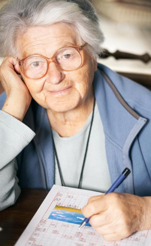 Completing crossword puzzles has been shown to improve mental well-being in elderly people.