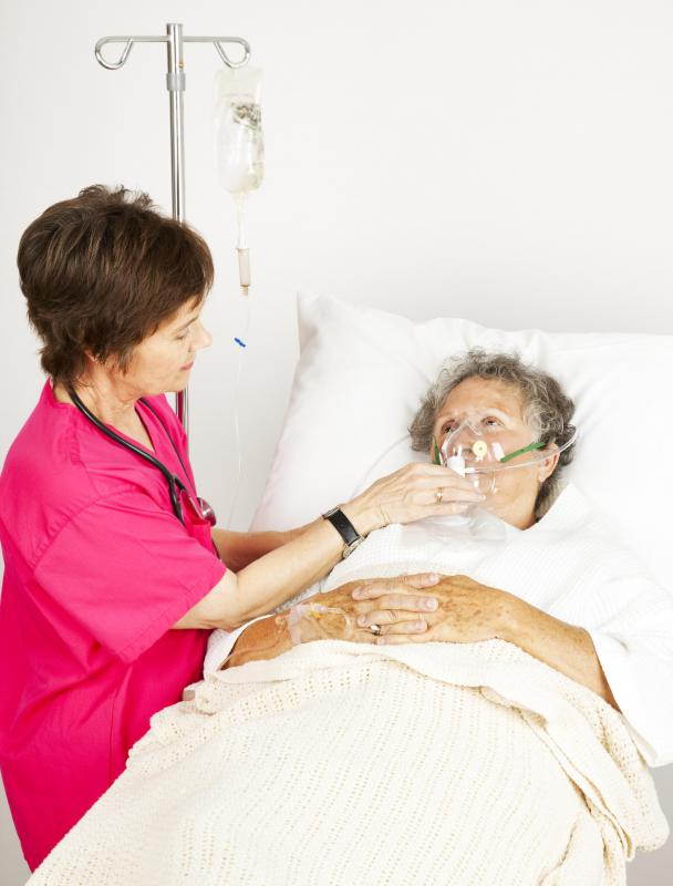 Patients who need treatment for hypoxia may receive supplemental oxygen.