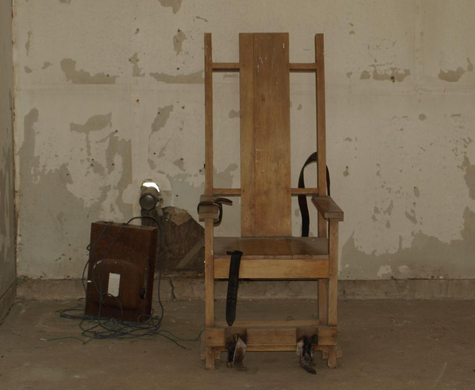 Electric Chair In The Former Louisiana State Execution Chamber.