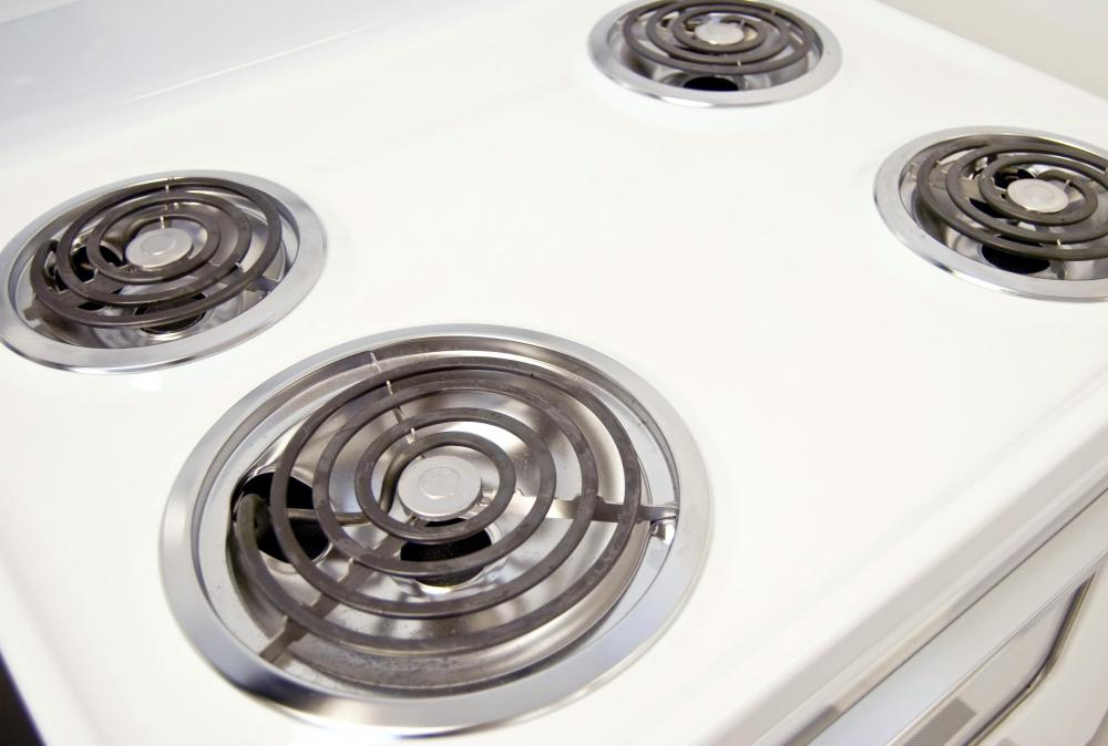 Most electric stoves feature heating coils as the cooking surface.