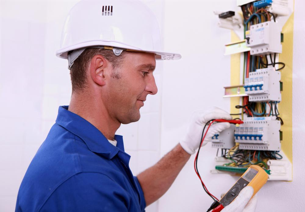 A certified electrician should be contacted to do repair work.
