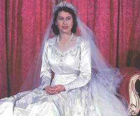 For her 1947 wedding, Princess Elizabeth (later Queen Elizabeth II) used ration coupons to buy the material for her wedding dress.