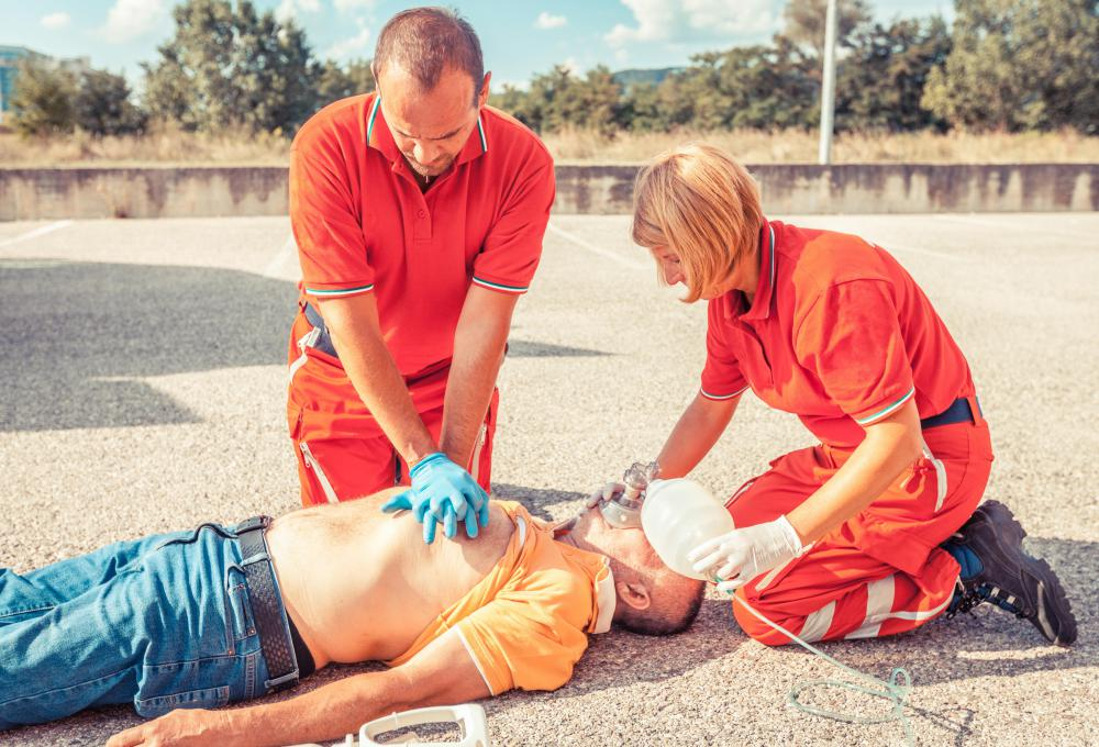 Immediate treatment of cardiac arrest includes chest compressions and rescue breathing.