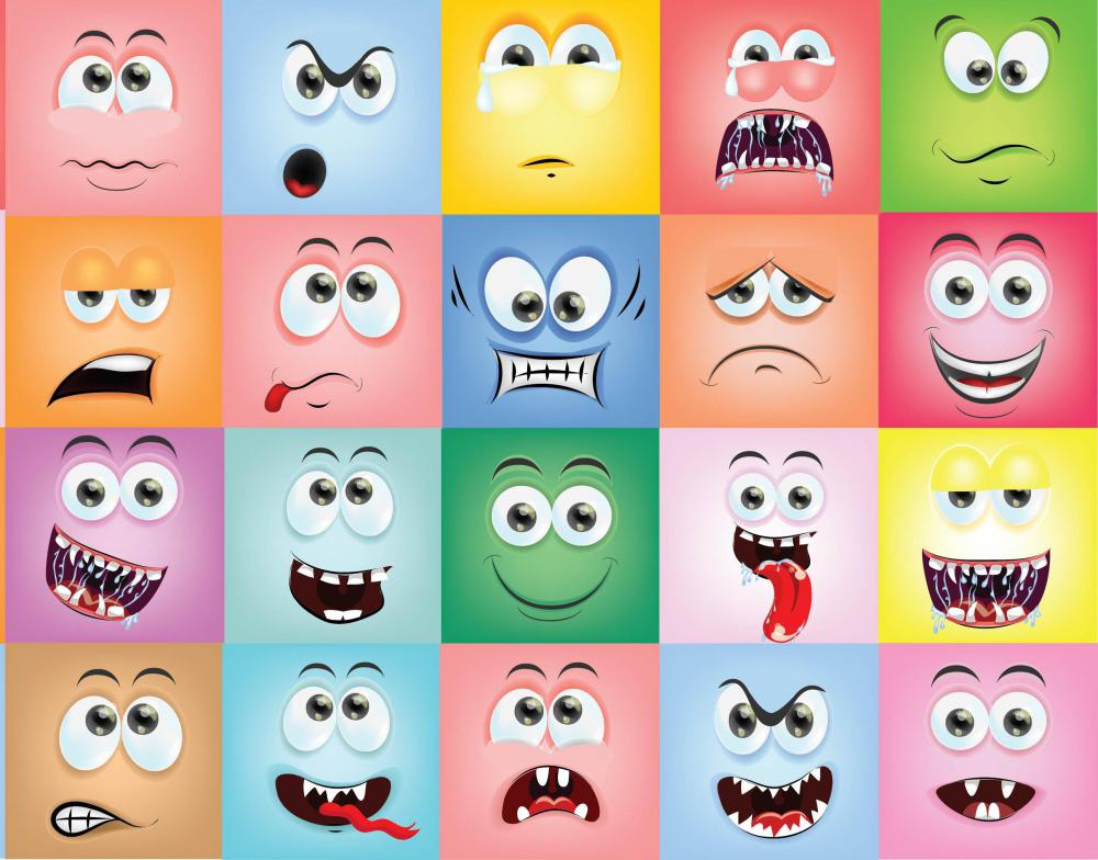 emoticons and abbreviations As a new person or newbie on the internet, you'll probably be struck by the fact that a lot of the messages contain odd-looking words (acronyms) and punctuation (emoticons).