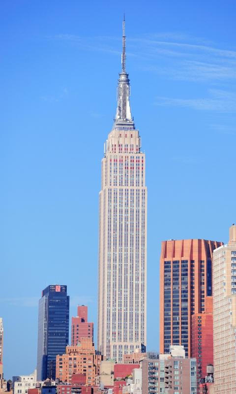 The Empire State Building is a specific place and its name should be capitalized.