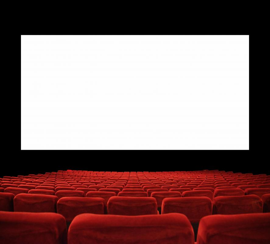 Movie theater with a rear projection screen