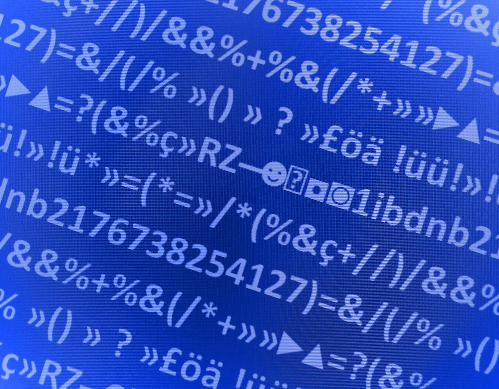 Numbers, letters, and symbols are substituted for readable information in encryption.