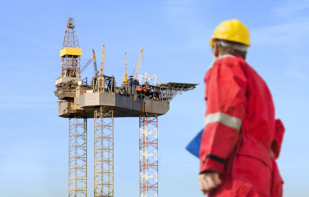 A helicopter pilot might transport workers to and from high oil rigs.