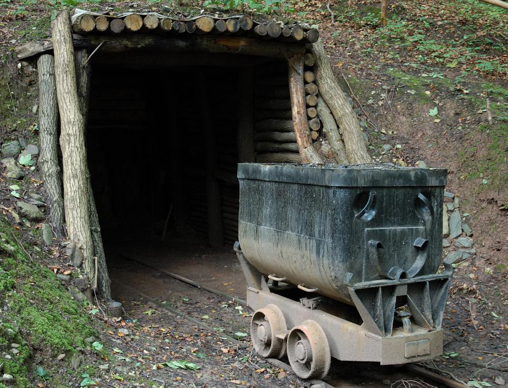 Entrance to a coal mine.