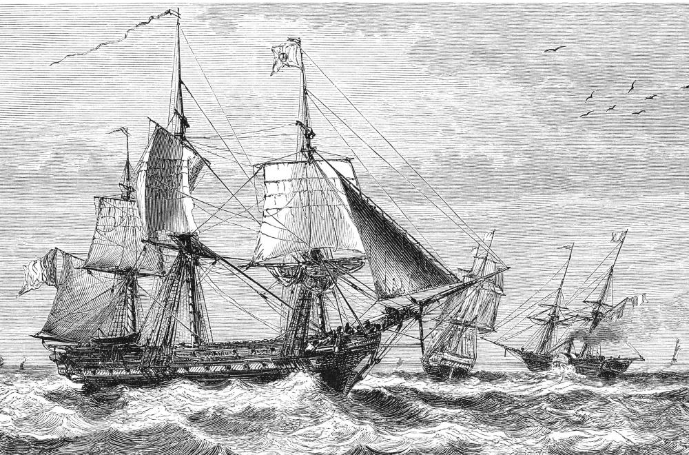 During the Age of Sail, agents for Lloyds of London signed under a list of risks when insuring a merchant ship's voyage.