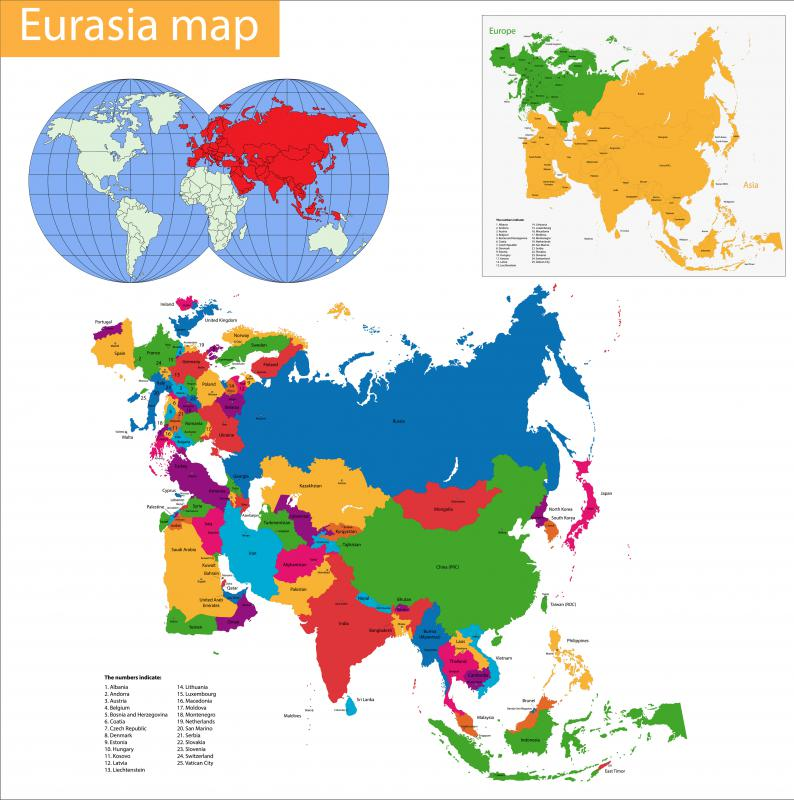 Eurasia is a modern supercontinent.