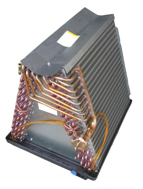 Condensers are typically combined with evaporators.