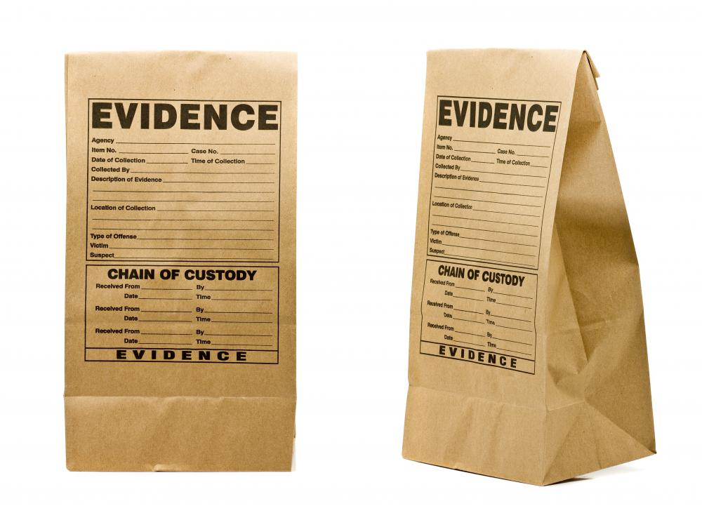 Evidence collected as part of an investigation must be ruled admissible before it can be presented in court.