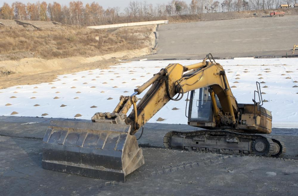 Landfills are lined with geomembranes to keep leachate from polluting the nearby environment.