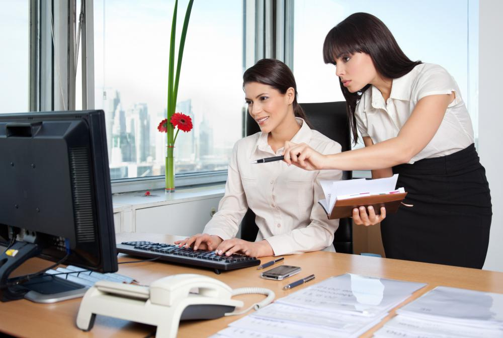 An executive assistant may keep her supervisor's schedule.