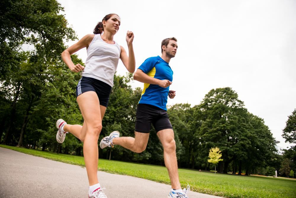 Jogging is an effective lower-body exercise.