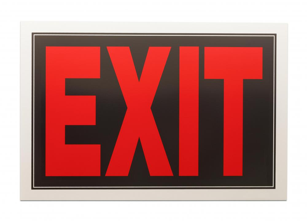 People must have a safe and open path once they walk through a clearly marked exit.