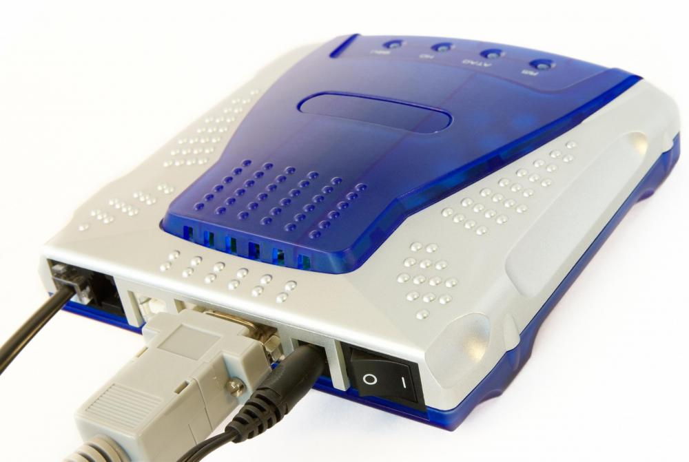 A DSL modem is typically an external modem.