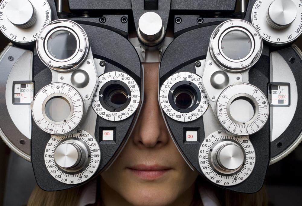 An eye exam should be performed annually.