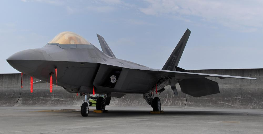 The radar absorbent surfaces of the Lockheed Martin F-22 are believed to be made from composite materials.