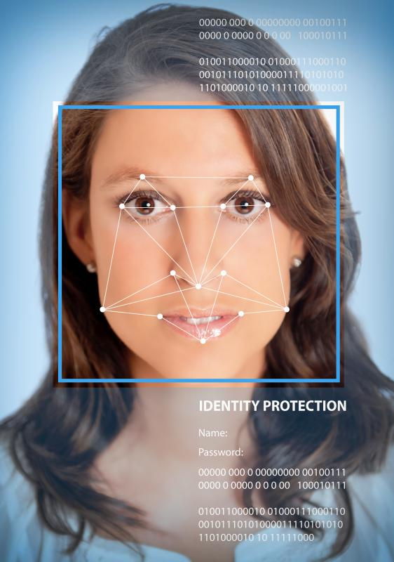 An individual's facial features are used for identification in facial biometrics.