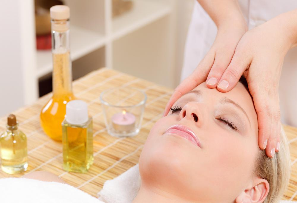 A facial usually includes a massage of the face.