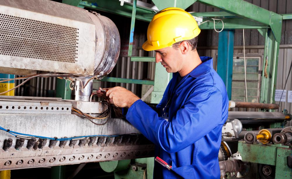 A millwright apprentice gains experience constructing heaving machinery.