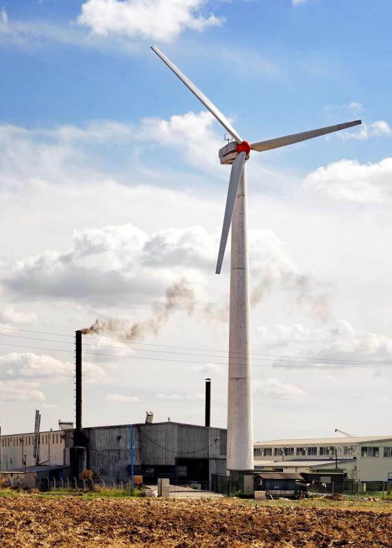 Wind turbines can be included in building designs to provide electricity.