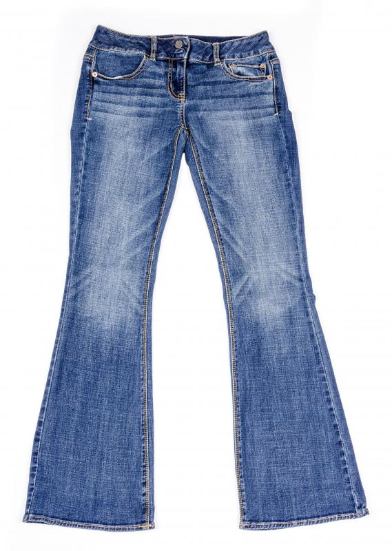 Blue jeans are made of denim.