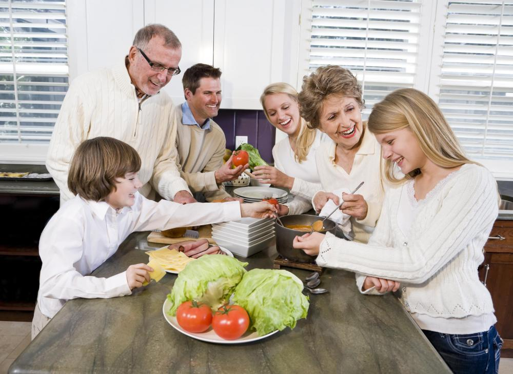 Family traditions in the kitchen are often passed down through the generations.