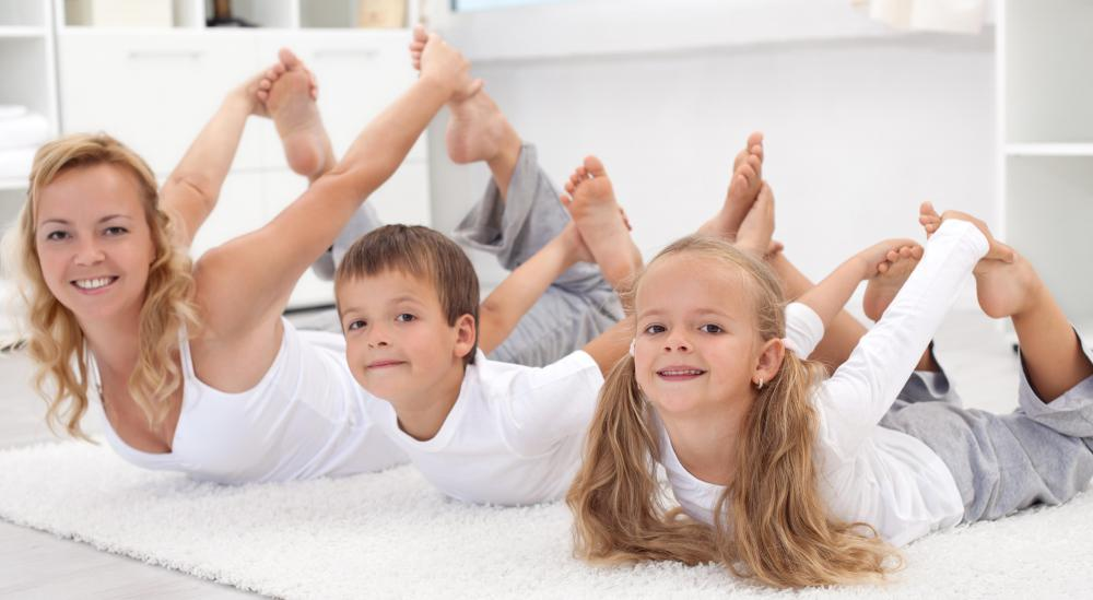 Yoga helps kids become more flexible and balanced.