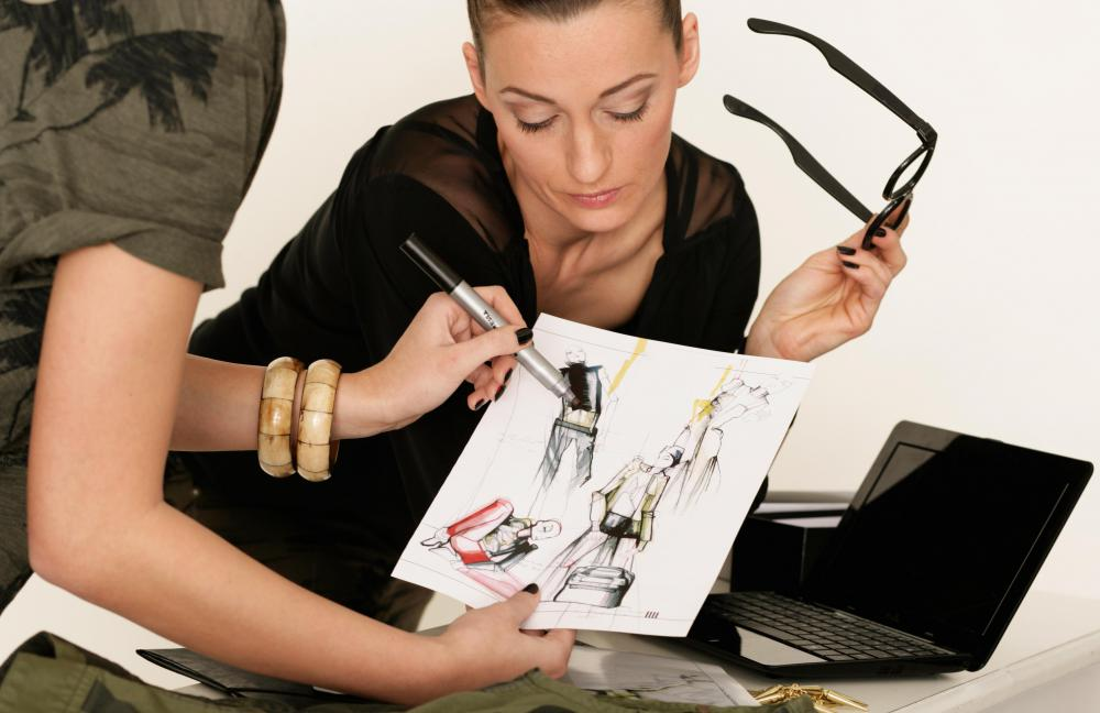 A fashion stylist may work with a private client to create an individual look.