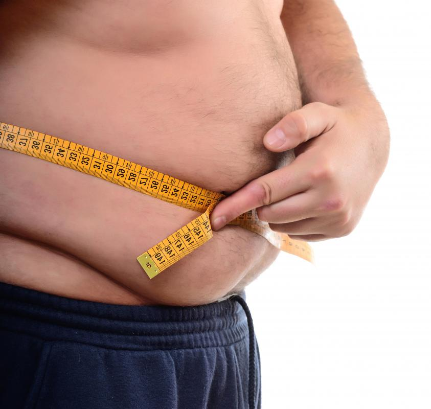 Excess calories that are consumed are often stored in the belly as fat.