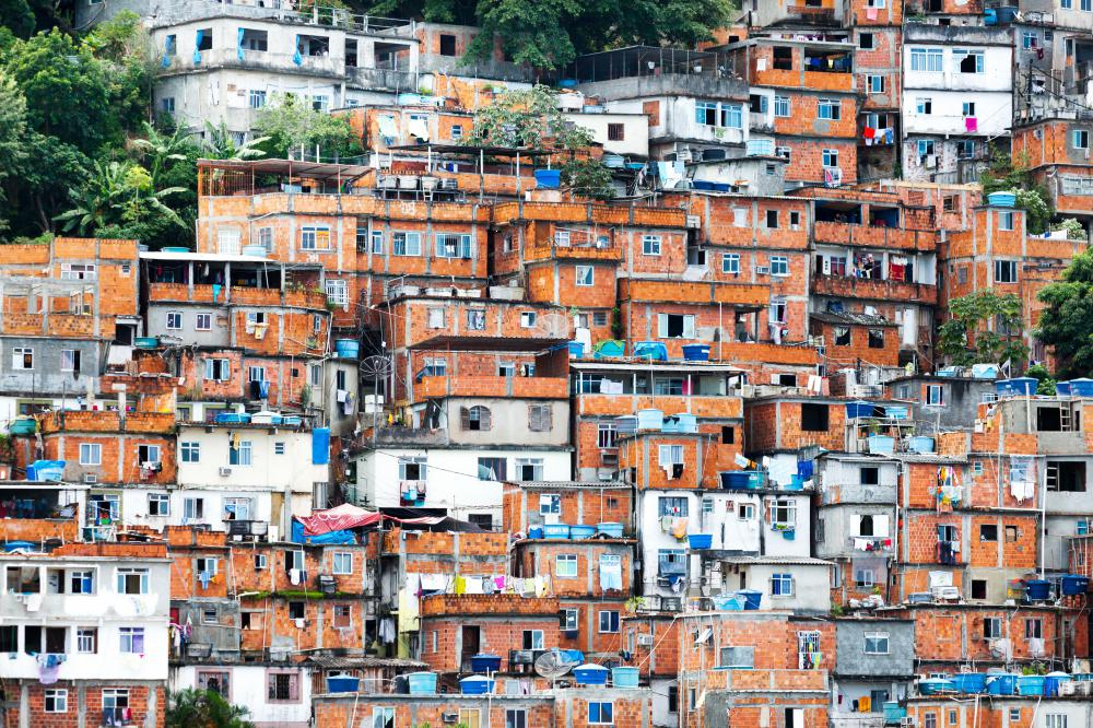Brazil's urban areas are densely populated.