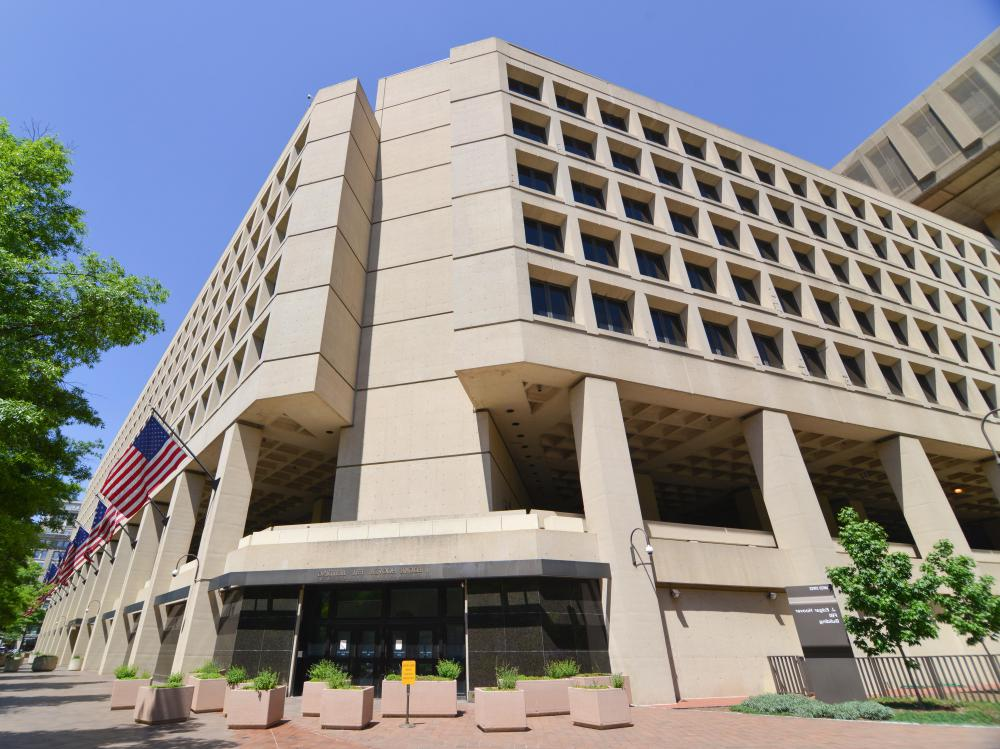 The FBI has its headquarters at the J. Edgar Hoover Building in Washington, D.C.