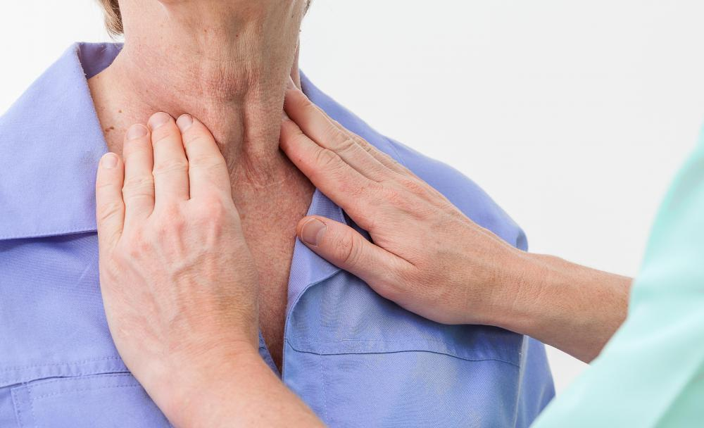 Physicians may perform a thyroid screening to check the thyroid for potential problems.
