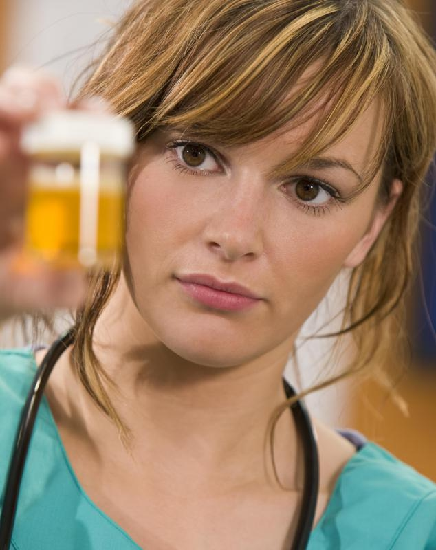 A doctor may use a straight catheter to obtain a urine sample from a patient.