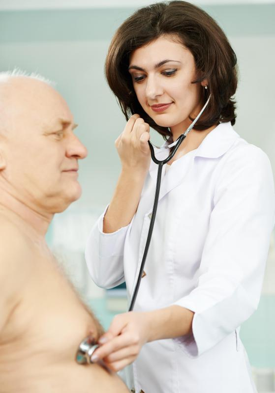 A doctor may use a stethoscope to diagnose a heart click.