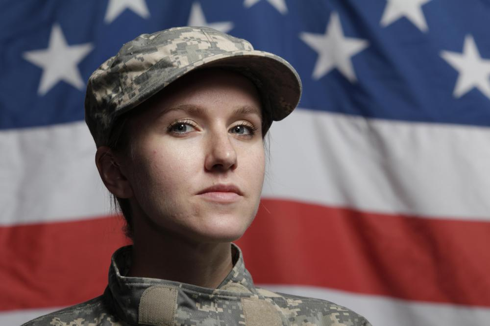 Military haircuts for women are slightly more lenient than those for men.