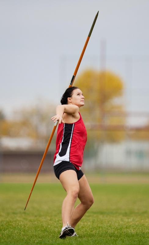 A heptathlon includes a javelin throw.