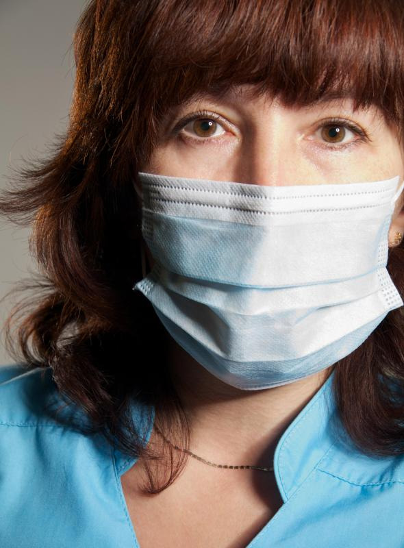 People with dust allergies should wear face masks when sweeping or vacuuming.