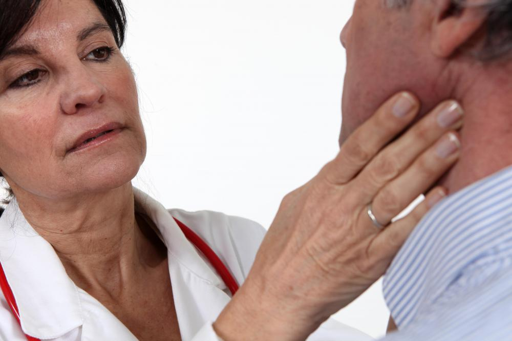 Swollen lymph nodes may be a sign of mantle cell lymphoma.