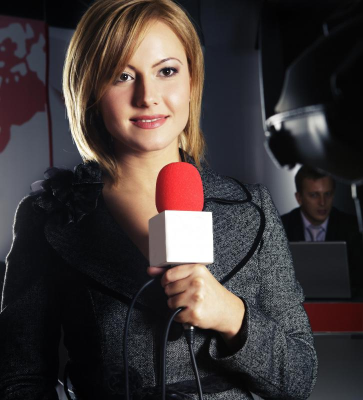 Handheld microphones are frequently used during newscasts.