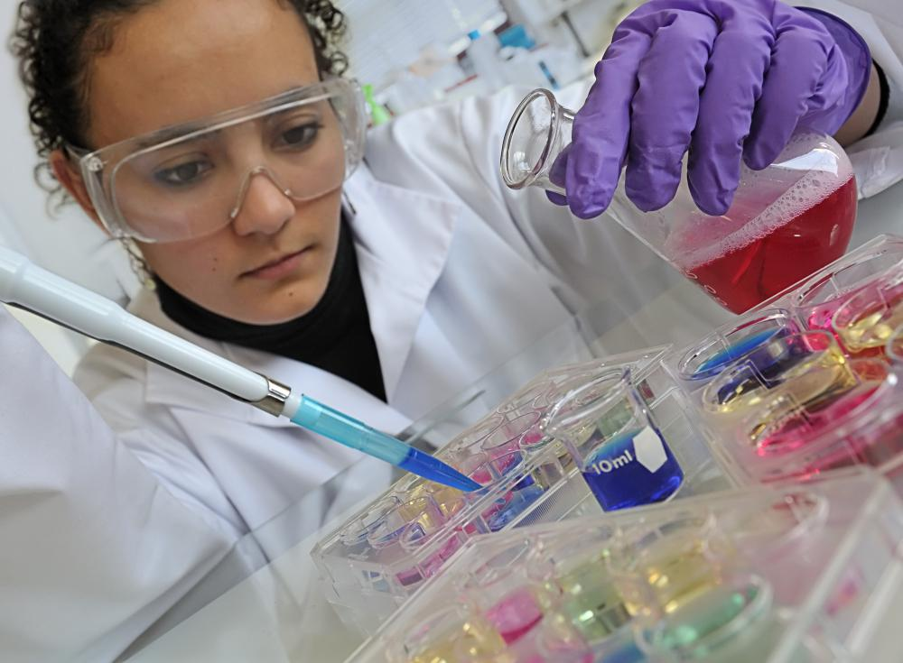 A female scientist working in a laboratory.